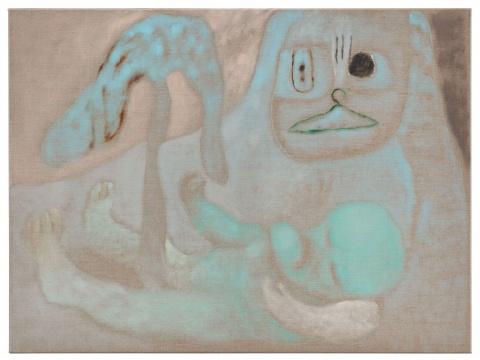 仇晓飞《托洛茨基基长成了一棵树》60×80cm 布面油画 2020