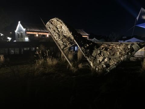 马原驰&信阁&李康旭 《起风了》(致敬 贝尔纳·斯蒂格勒)610cm×300cm×330cm综合装置 2020