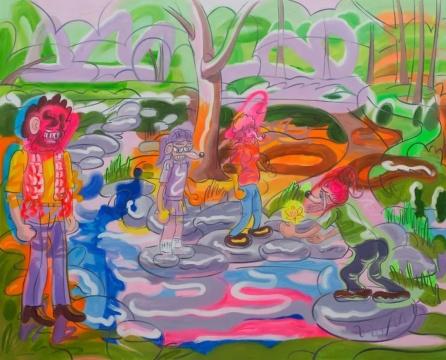 《离开欲望横流的都会》170x210cm 布面油画 2020