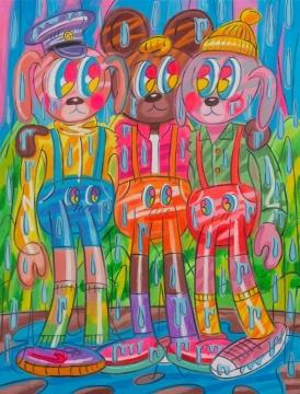 《泪和雨》170x130cm 布面油画 2020