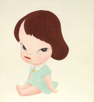 奈良美智 《温室女孩》 119.8x109.9cm 压克力 画布1995 估价待询
