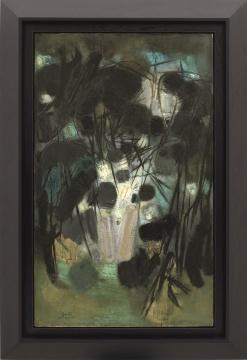 朱德群《构图65号》 145.4x89.2cm 油画 画布1960 估價:HK$ 15,000,000–20,000,000