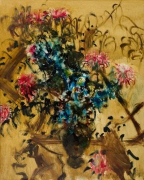 周春芽 《瓶花》99x79.2cm 油彩 画布 1993 估价:3,500,000-5,000,000港元