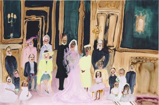 珍尼维·菲吉斯 《婚礼派对》 149.9 x 100.3 cm压克力 画布 2018 估价:550,000-850,000 港元