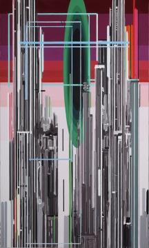 刘韡《紫气四第4号》 300x180cm 油彩 画布 2007  估价:1,600,000-3,000,000港元