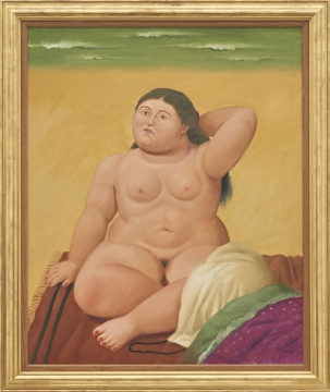 费尔南多·博特罗 《海滩》 121.5 x 99.9 cm油彩 画布 2003  估价:2,400,000 - 3,200,000 港元