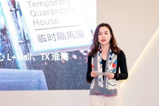 保时捷中国传媒公关副总裁唐凤靓女士致辞