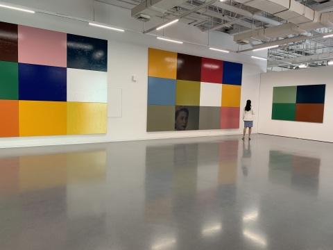 颜磊《有限艺术项目》125幅 105×130cm 布面油画 2012悦来美术馆展览现场 2020