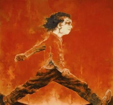 苏新平 《奔波的人1号》布面油画 2010