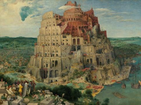 勃鲁盖尔《巴别塔》114x115cm橡木面板 1563年