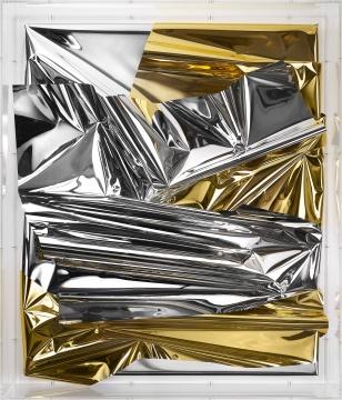 《无题(78991)》140×121×24cm混合媒介、亚克力玻璃2018