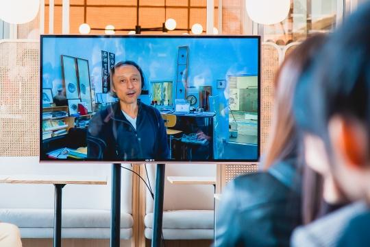艺术家郑重宾先生通过视频讲述了水墨形式与当下建筑艺术的关联