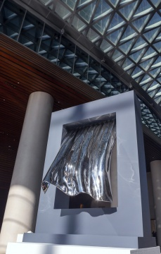 《风》100×80×40cm不锈钢-外框烤漆 2019