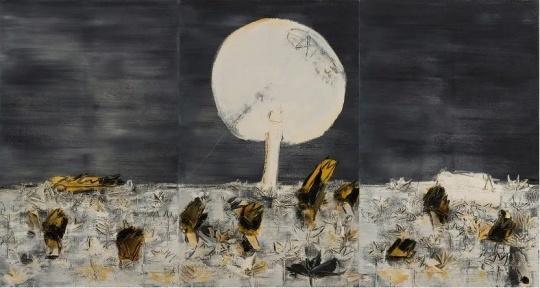 刘锋植《凝固的月色》160x100cm x3布面油画 2003图片致谢艺术家和艺•凯旋画廊
