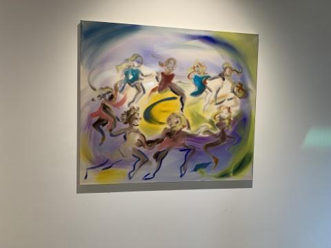 索菲·冯·海勒曼 《仙子之舞》130x150 cm 布面丙烯 2020