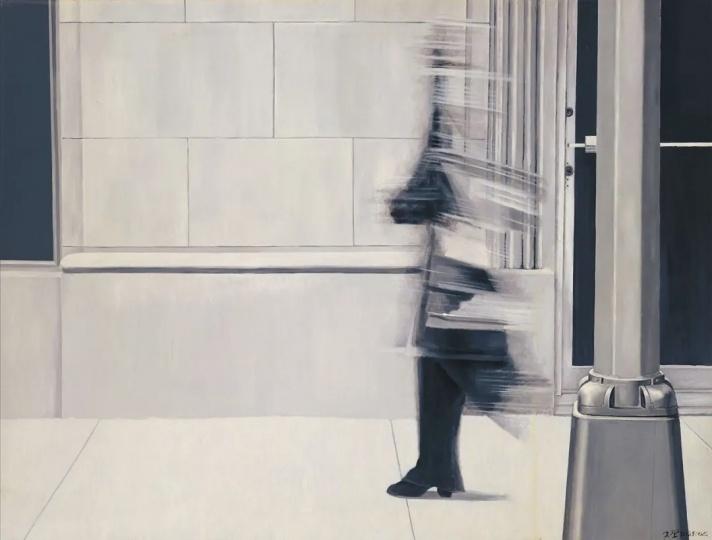 夏阳 《凯蒂》182.5×241.5cm油彩画布 1972