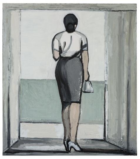 刘晓辉 《无题-走廊与光影》180×160cm 布面油画2015-2019