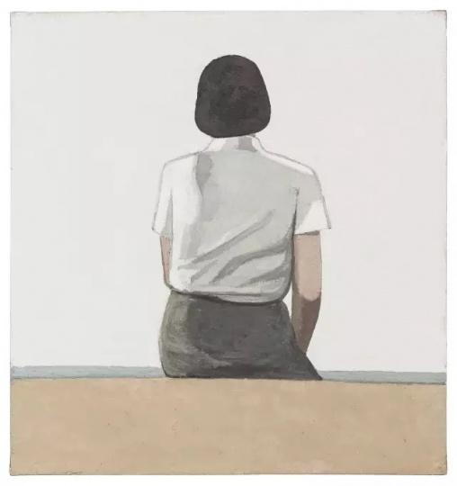 刘晓辉 《无题-海边坐姿1号》 160×150cm 布面油画 2015