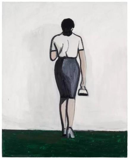 刘晓辉《无题-绿草地》 250×200cm 布面油画 2014-2015