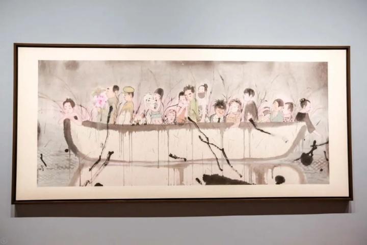 刘庆和 《石舫》 160×368cm纸本水墨2020