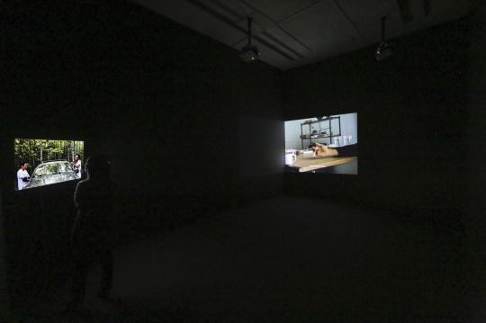 彭祖强 《保持触碰》 彩色有声影像装置 8分13秒 2020