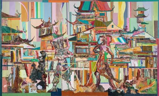 王源远 《昆仑图》 150×250cm 布面油画 2019