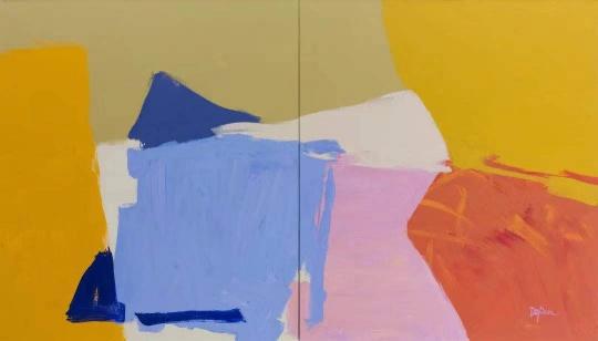 张德建《无题19-14》 160×280cm 布面油画2019蜂巢当代艺术中心