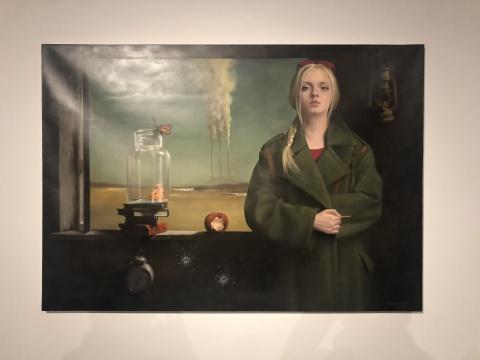 西内沙·卡沙莱夫斯基(北马其顿)《时间尽头》  布面油画 114×162cm2017
