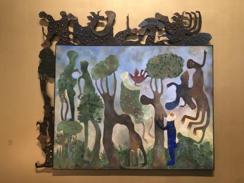 马鲁·门迪(古巴)《最美好的事物》  布面丙烯、金属180×200cm1995