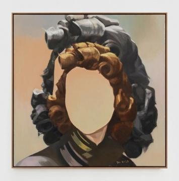 《痕迹(化妆术)》154×154cm 布面油画 2020