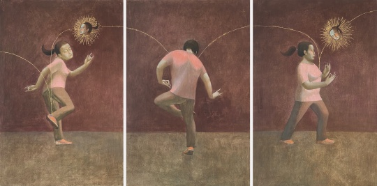 《秋波图三联画》 40x60cm*三幅 木板坦培拉 2020