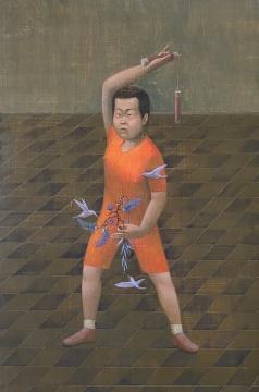 《少年英雄1》 40x60cm 木板坦培拉 2020