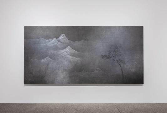 《虚空为四邻之二》 200x400cm 纸本水墨 2018