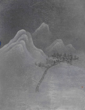 《云壑》 45.5x35cm 纸本水墨 2020