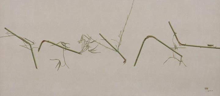 《滞留在脆弱之处的悲伤No.1 》 170×75cm 布面油画 2014