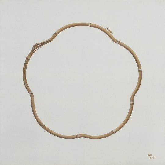 《竹No.9》120×120cm 布面油画2014