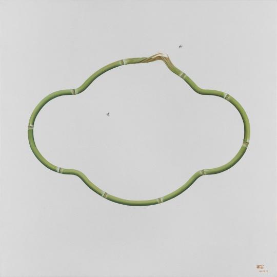 《竹 No.11》120×120cm 布面油画2014