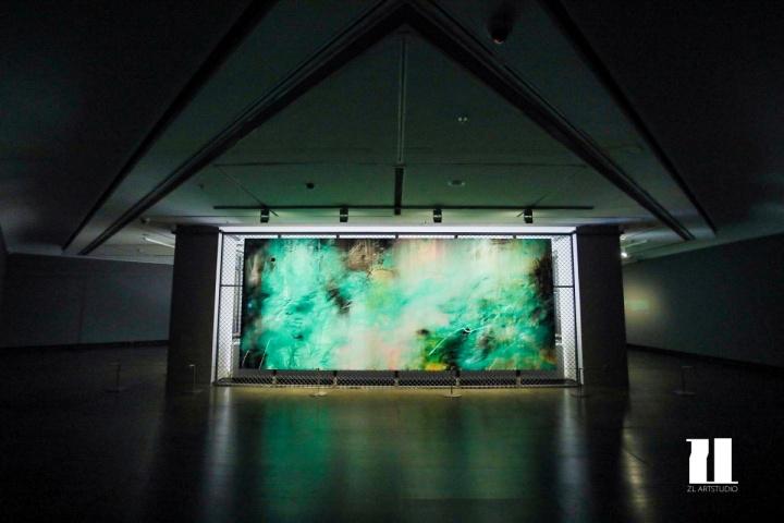 """广东美术馆周力""""格林迷踪""""展览现场"""