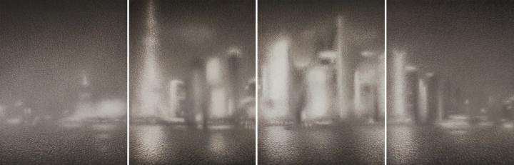 王舒野《上海浦东的时空裸体·即(100)》233.5cm×712cm纸本水墨 2018