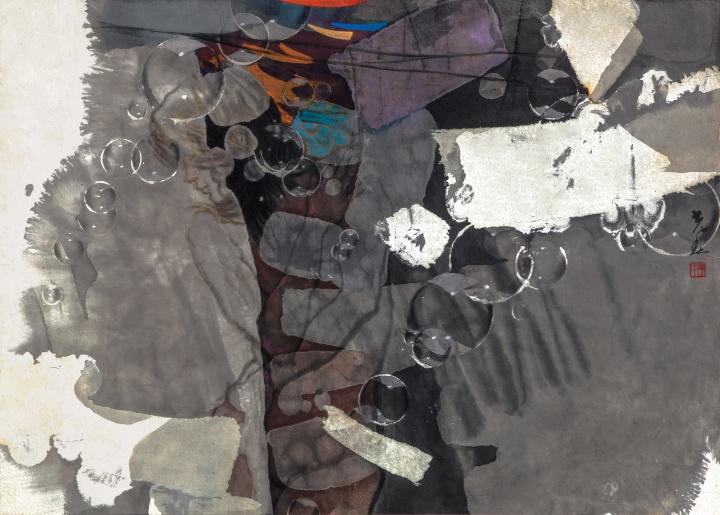 李光春《无极》120×90cm纸本彩墨2007