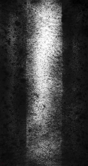 梁蓝波 《音象XI》173×93.5cm纸本水墨2020