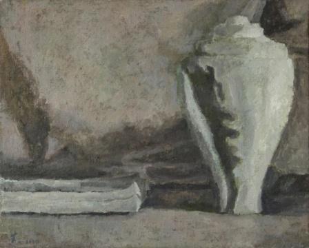 《白螺雕塑 》40x33cm 布面油画 2020