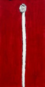 《语世系列 》180x96cm纸本水墨、丙烯2013
