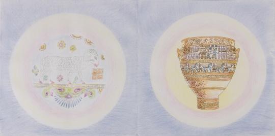 李新建《遗产场》 33×33×800cm 彩色铅笔绘本、宣纸册页、亚克力PMMA展盒 2019-2020