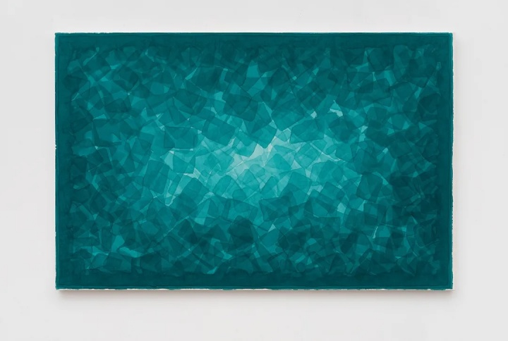 《林中路》 122×190cm 绢本综合 2019