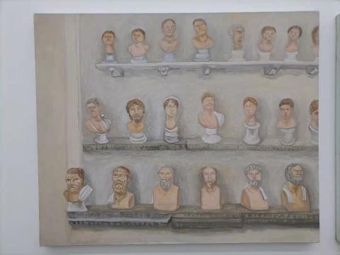 曹应斌 《梵蒂冈博物馆里的雕像》60×73cm 布面油画 2020