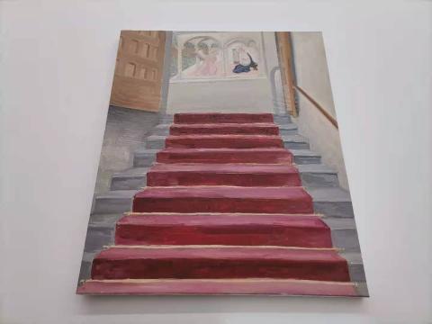 曹应斌 《圣马可教堂里的小房间》60×73cm 布面油画 2020