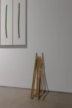 刘耀华 《金声》 30×110cm×77支新鲜竹制箫、摄影七条屏 2020