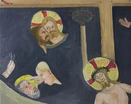 曹应斌 《圣马可教堂里的小房间》 20x25cm 布面油画 2020