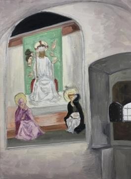 曹应斌 《圣马可教堂里的小房间》 30×40cm 布面油画 2020